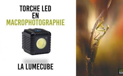 Torche LED en macrophotographie : La Lumecube